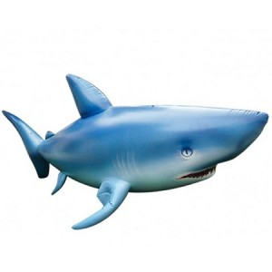 Angry Lifesize Inflatable Shark