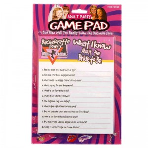 Bachelorette Party Game: Know the Bride