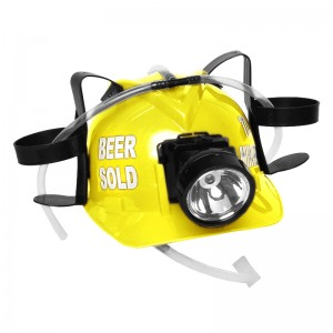 "Beer Sold To Miners"" Lighted Drinking Helmet, Yellow"