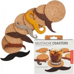 Cork Mustache Coasters