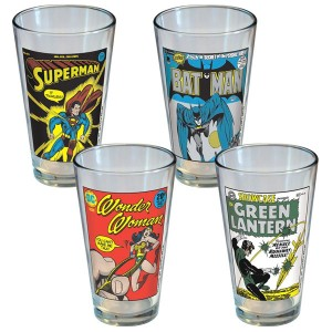 DC Comics Classic Covers Glass Set (4 Pack)