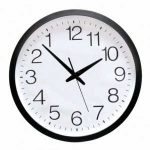 Deluxe Backwards Clock