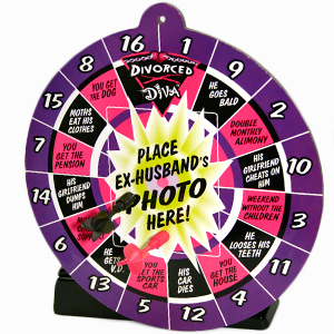 Divorce Diva Dartboard