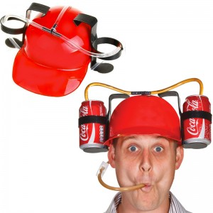 Drinking Helmet: Red