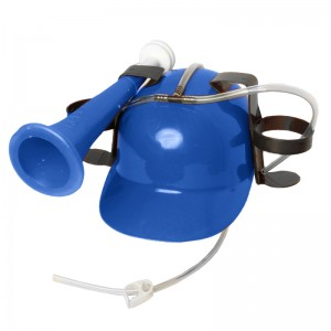 Drinking Helmet with Horn, Blue