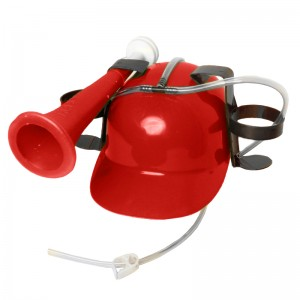 Drinking Helmet with Horn, Red