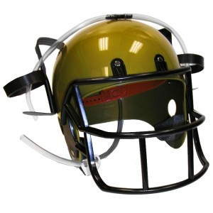 Football Drinking Helmet: Gold