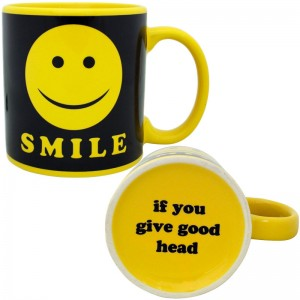 Giant Smile Mug - Smile If You Give Good Head