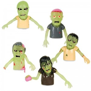 Glow in the Dark Zombie Finger Puppets