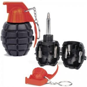 Grenade Screwdriver Set Keychain