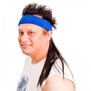 Instant Mullet w/ Headband: The Bobcat