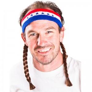Instant Mullet w/ Headband: Willie