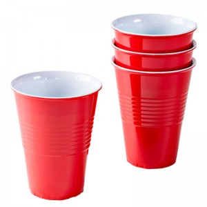 Large Melamine Red Cup 4 Pack