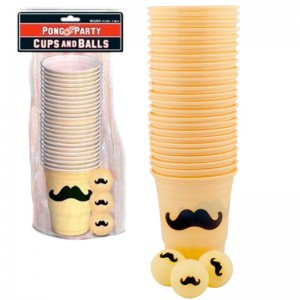 Mustache Beer Pong Set