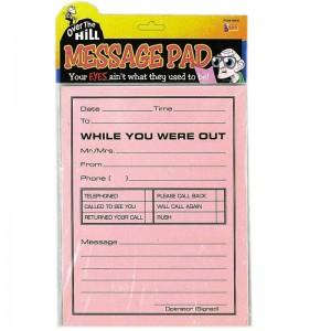 Over the Hill Jumbo Message Pad