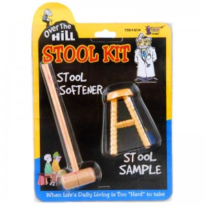 Over the Hill Stool Sample and Stool Softener