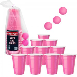 Pink Beer Pong Set