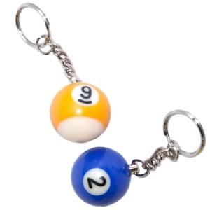 Pool Ball Keychain