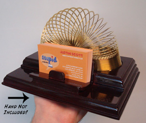 Slinky Card Caddy