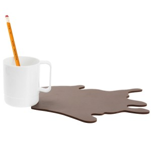 Spilled Coffee Mug Mousepad & Pen Holder