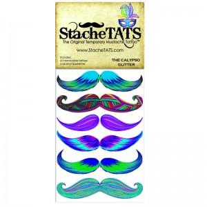 Stache Tats: Calypso Glitter Temporary Mustache Tattoos