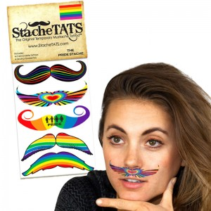 Stache Tats: Pride Temporary Mustache Tattoos