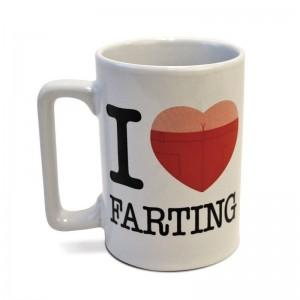 Talking Mug I Love Farting