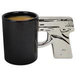 The Gun Mug - Chrome Handle