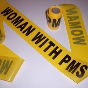 Woman with PMS Crime Tape