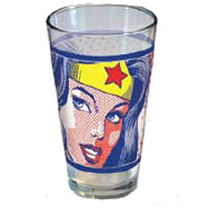 Wonder Woman Pop Art Glass