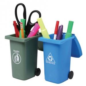 Mini Trash and Recycle Can Set