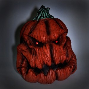 Sinister Pumpkin with Lights