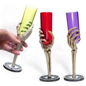 Skeleton Hand Glass Flute