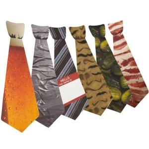 Sticky Ties: Pickle, Bacon, Beer, Duct Tape & More Sticker Ties