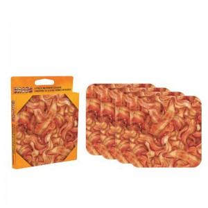 Bacon 4 piece Coaster Set