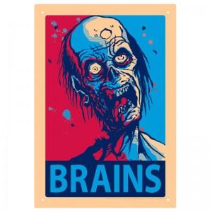 Brains Tin Sign