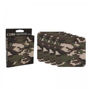 Camo 4 piece Coaster Set
