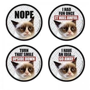 Grumpy Cat Coasters, 4 piece set