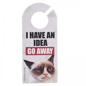 "Grumpy Cat Door Hanger ""I Have An Idea"""