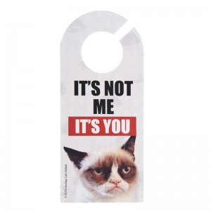 Grumpy Cat Door Hanger 'It's Not Me""