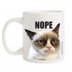 Grumpy Cat Porcelain Mug Nope