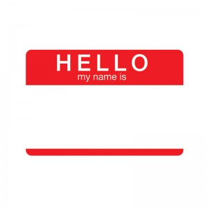 Hello My Name Is Tin Sign
