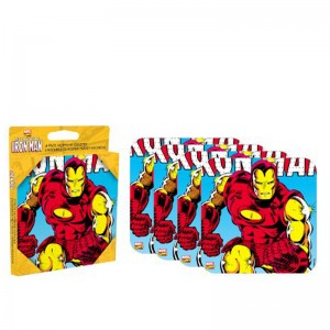 Iron Man 4 piece Coaster Set