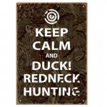 Keep Calm Hunting Tin Sign