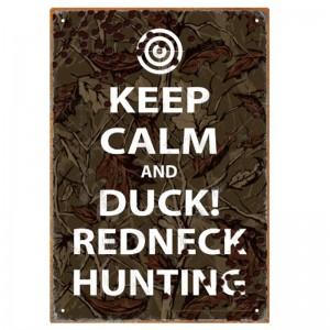 Keep Calm Hunting Tin Sign