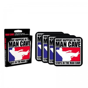 Man Cave 4 piece Coaster Set