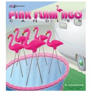 Pink Flamingo Candles