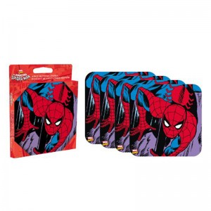 Spiderman 4 piece Coaster Set