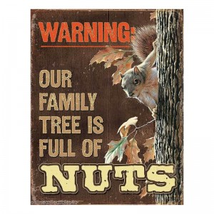 Warning Squirrel Tin Sign