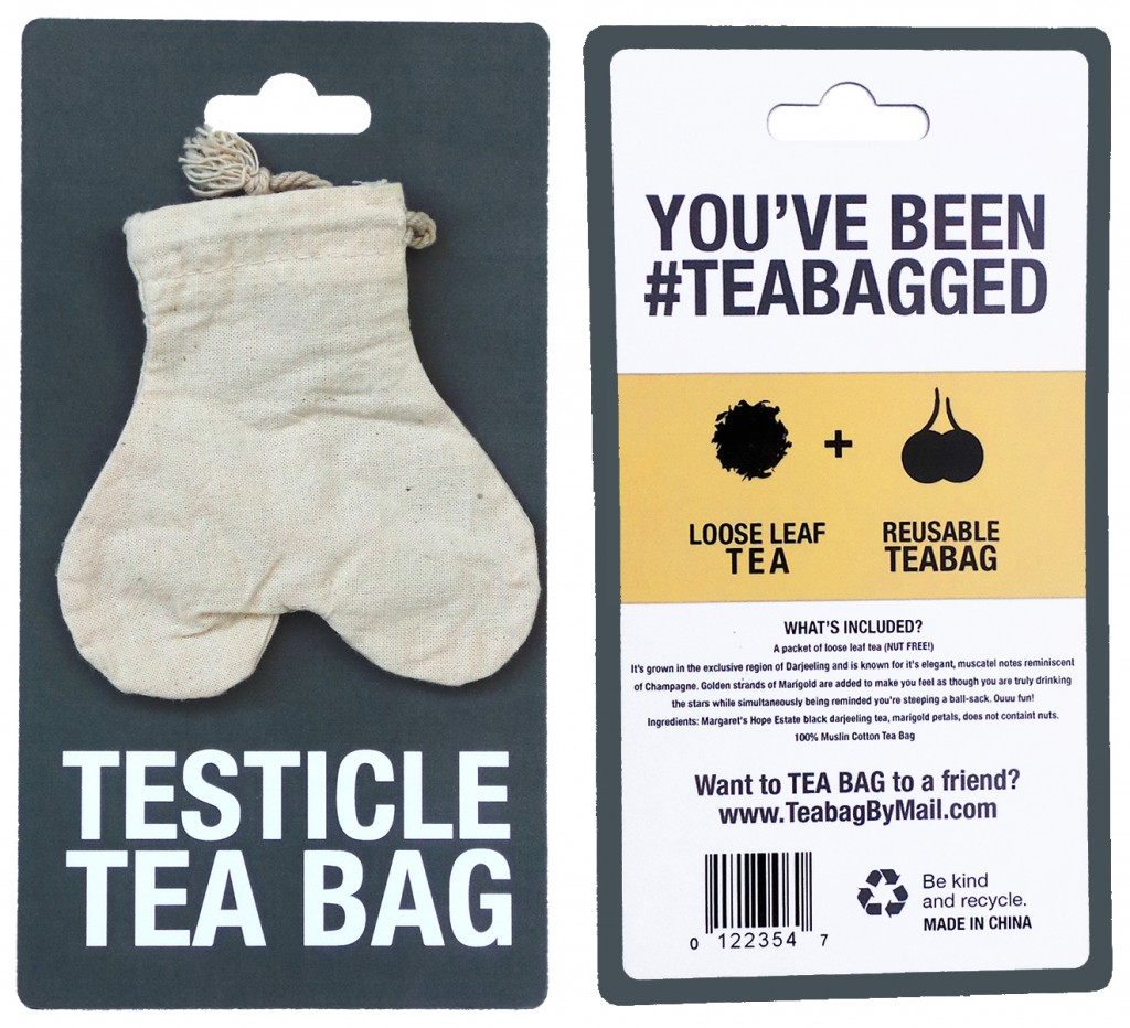 Testicle Tea Bag with real high quality tea leaf!